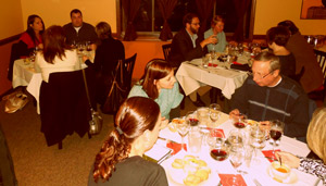 The wine dinner at Fat Cam's in Edwardsburg, Michigan on February 27, 2013