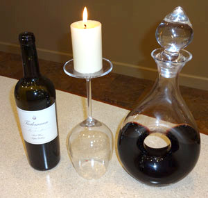 The presentation of wine in a nice decanter adds to the visual experience of enjoying wine.