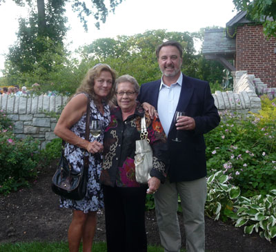 Emilie Tiedemann (center) is pictured with Jan and Brad Richards at the 2012 Wellfield Botanic Gardens Annual Dinner in Elkhart, Indiana.