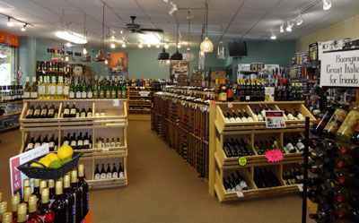 The wine shop at Sawyer Gardens features over 700 wines!