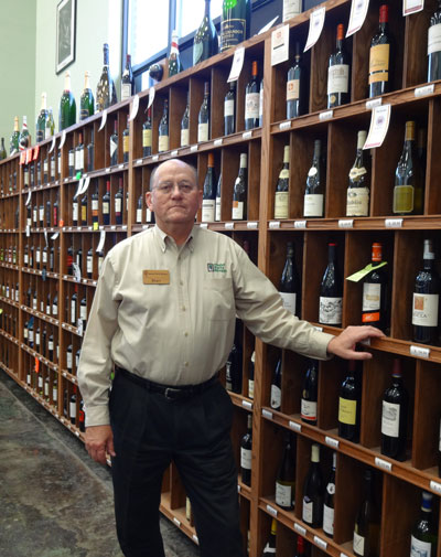 Stan Minden from Chalet Party Shoppe in Elkhart runs Chalet's Wine Club.