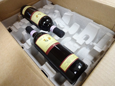 Wine packed with cardboard = BAD!
