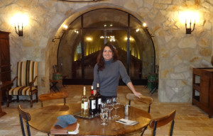 Lili Shariati during the Kelly Fleming Winery tour and tasting