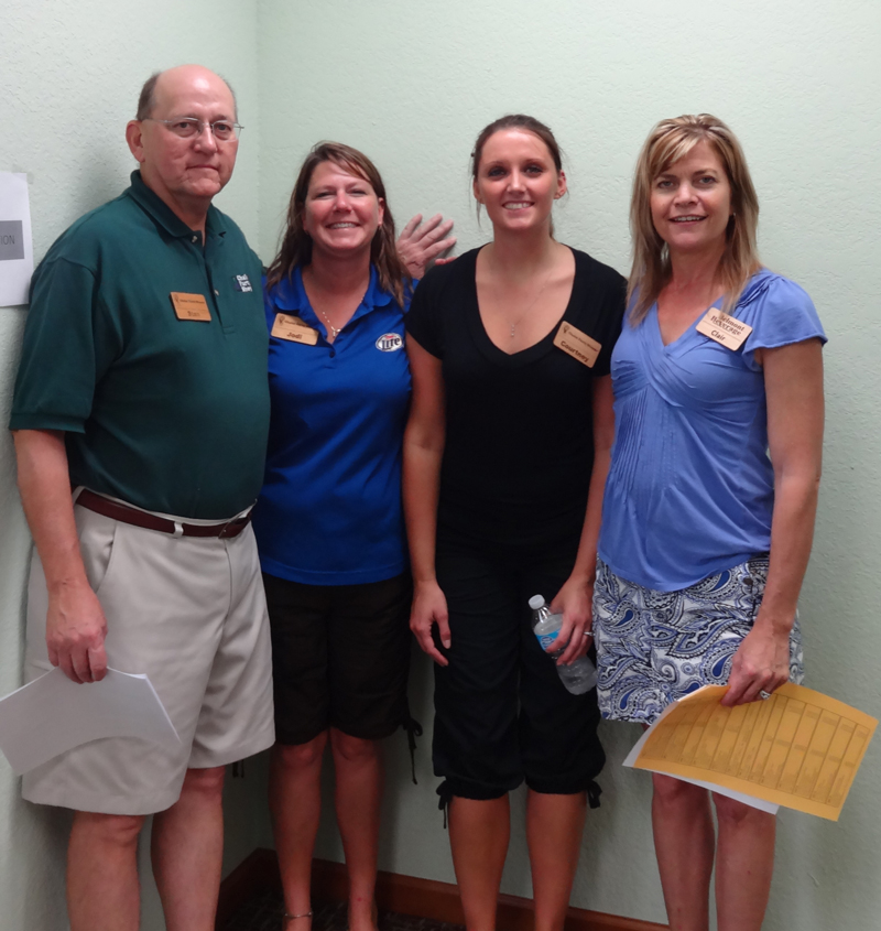 The Chalet Party Shoppe team (left to right): Stan Minden, Jodi Yaratch, Courtney Dunmier and Clair McKinley.