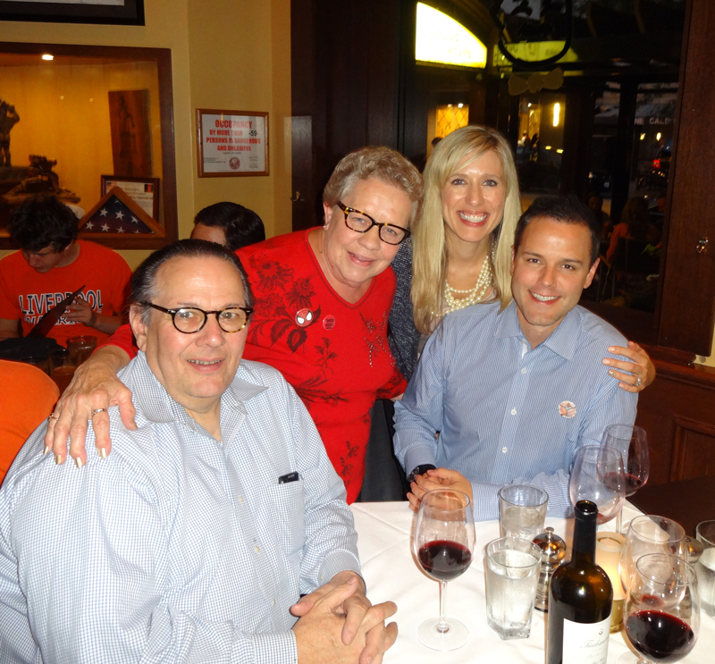 Carl and Emilie Tiedemann with Jack and Heather Stead at Ditka's Steakhouse in Chicago