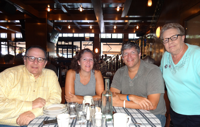Carl, Lisa and Mark Macheca, and Emilie at Gene & Georgetti in Chicago
