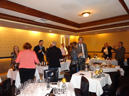 The group tasting wine that evening at Morton's Steakhouse on State Street in Chicago.
