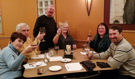 The Tiedemann On Wines Wine Club tasting at Lucchese's was a hit.