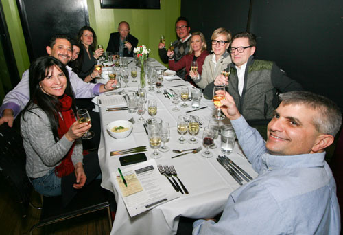 Wine Club Dinner in February 2015 at Uptown Kitchen