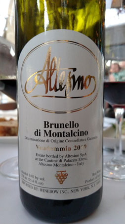 The 2009 Altesino Brunello di Montalcino was a winner.