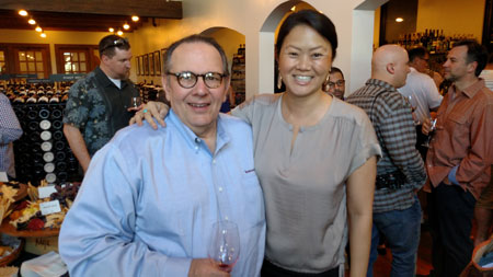Carl and Kerrin Laz of K. Laz Wine Collection at the Dean & Deluca 2012 Vintage Tasting on Friday.