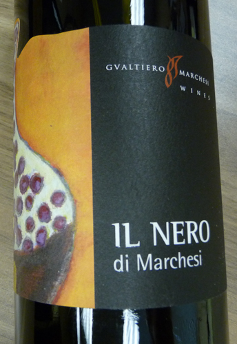 Gualtiero Marchesi's  Il Nero wine from Italy