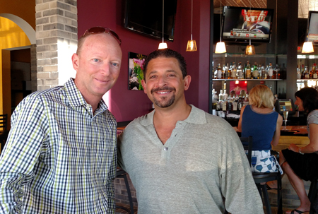 Marc Hamilton with Uptown Dining Group's Jonathan Lutz.