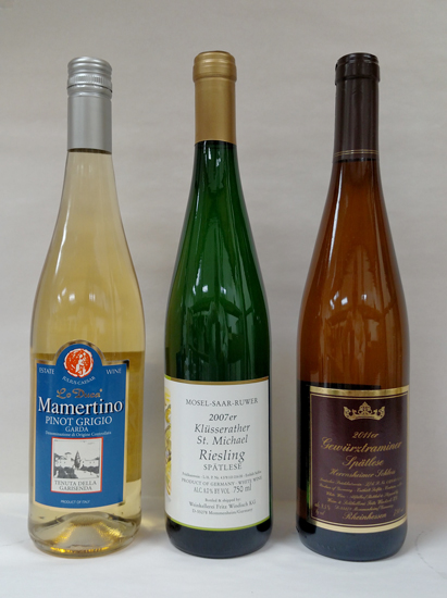 Mosel and Alsace (or Hock) bottle styles