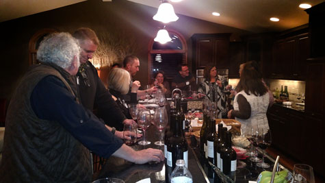The wine club enjoyed some great food paired with Carl's wines.