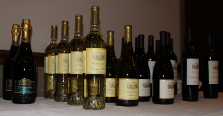 Wines served at the White Oak wine dinner at McCarthy's.