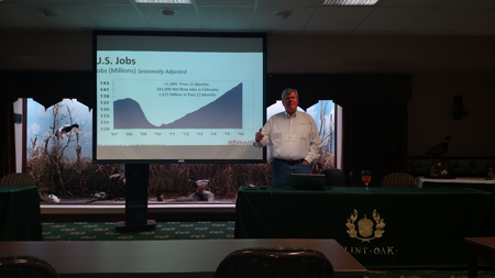 Ted Jones gives his presentation