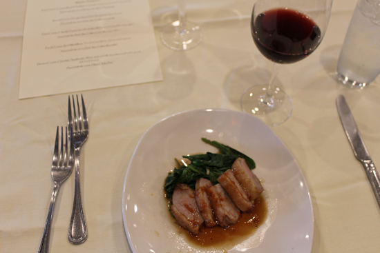 Orange-glazed duck served with the Dark Star Cellars Grenache