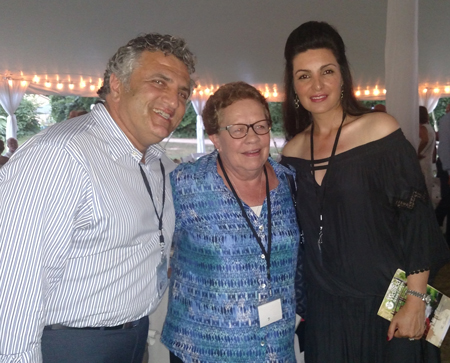 Emilie Tiedemann (middle) with Amir and Shahla Pouya at the Gardens.