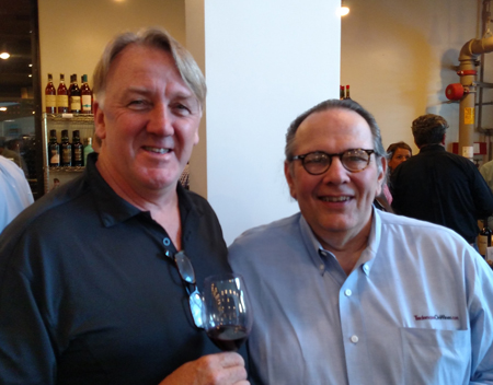 Winemaker Sean Larkin and Carl in Napa.