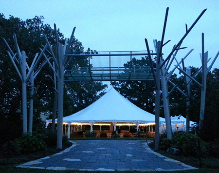 The tent for the Wellfield Botanic Gardens' Annual Dinner.