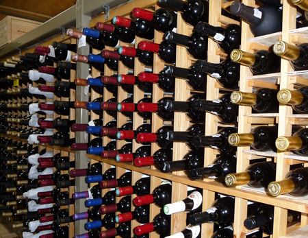 Proper storage (with bottles laid on their sides) is the way to help wine age gracefully.